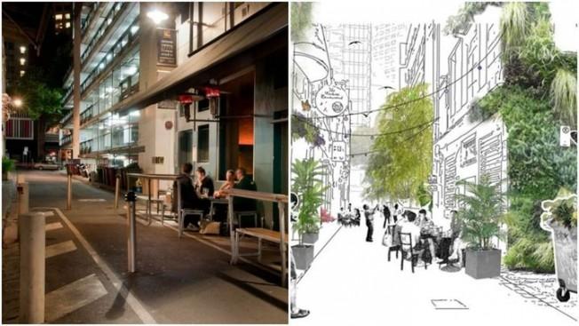 """绿化新项目!墨尔本CBD四条街道变身""""丛林""""(图)"""